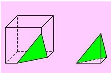 正方体的截面一刀可以切成以下哪三种?图片