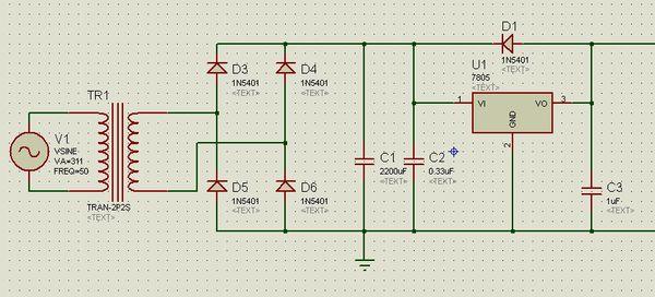 用7805制作的直流稳压电源输出电压会不会随负载大小而变化,输出电流
