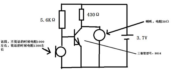 三极管音频放大电路如图,我刚刚学到三极管,做了一个如图的电路,利用