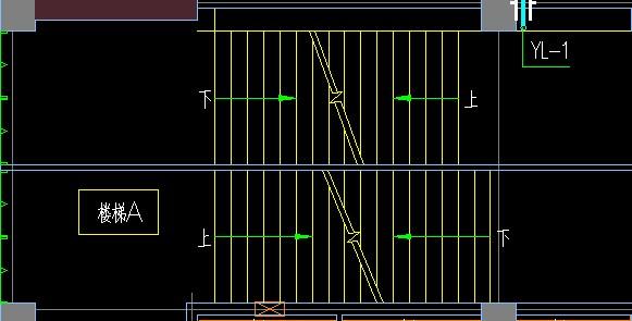 建筑图纸中的楼梯上下符号怎么看第一种楼梯的箭头符号和第二种有什么