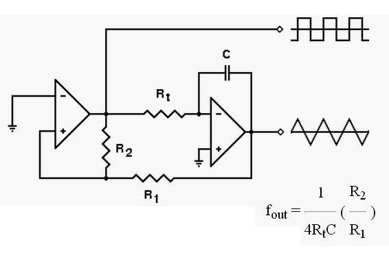 跪求用lm324得到峰峰值2v频率6khz的三角波发生电路,电容电阻不知道该