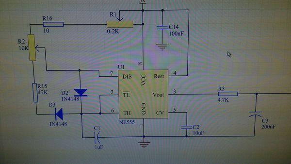 ne555方波产生电路波形问题