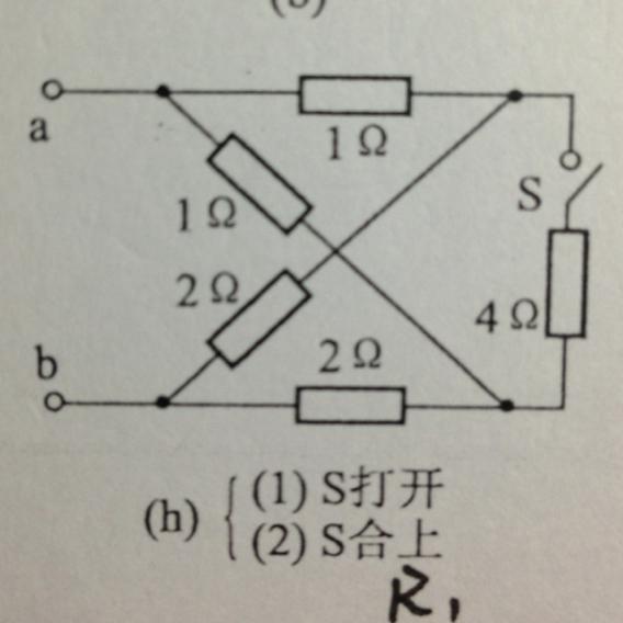电路理论:求等效电阻rab