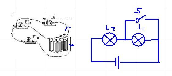 (物理)根据实物连接图画出电路图