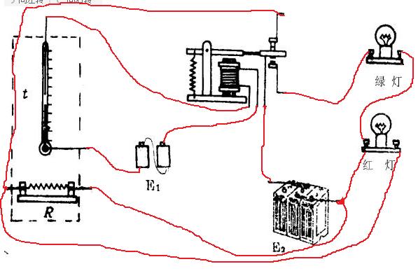 下图是某同学课外活动时制作自动控制的恒温箱模型所用的基本器材