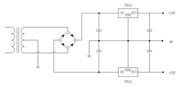 把220v的交流电转化为输出电压为12v,电流为1a的直流稳压电源电路图图片