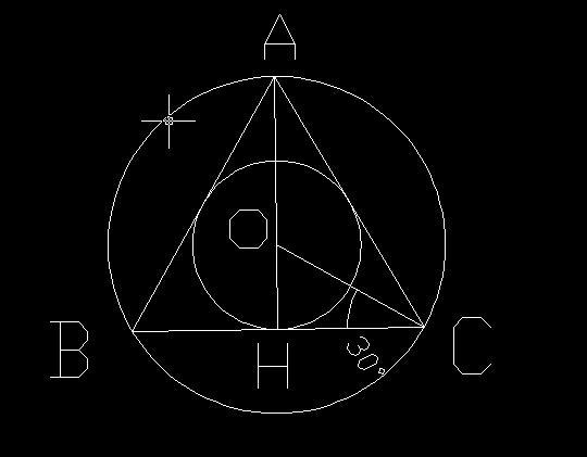 正三角形的内切圆半径和外接圆半径之比是2比1对吗 圆