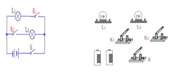 电路图实物图转换怎么连线怎么画电路图