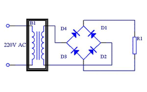 用变压器加乔氏整流自制一个12v充电器,由于输出电压只有12v电瓶电压
