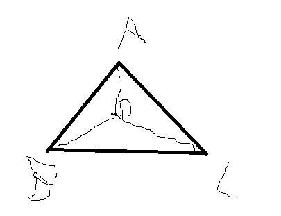 一个等腰直角三角形的斜边长是16cm,在这个三角形中画图片