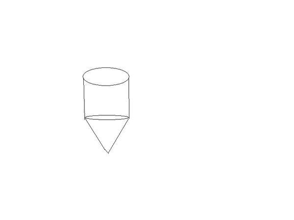 关于圆锥体积公式,物体的形状:下面是圆锥体,上面是圆柱,接起来的.
