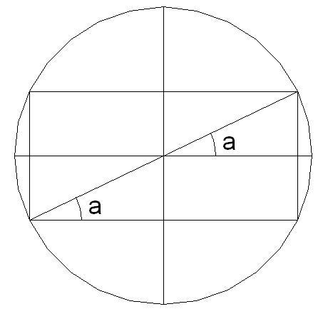 怎样画出圆内的长方形?怎么样在白色的圆内画出红色圆