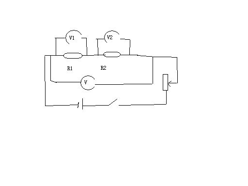 初中物理探究串联电路电压关系实验电路图怎么画?