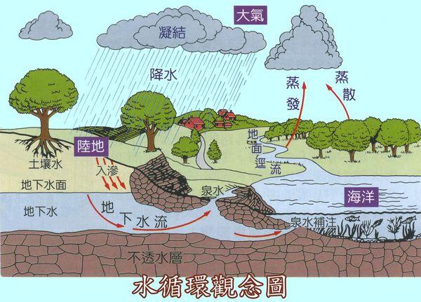 自然界中的水循环是通过什么实现的