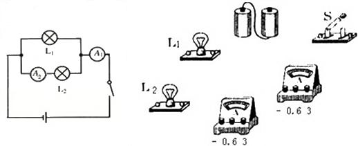 设计了如图所示的电路图: (1)请你根据电路图连接实物图.