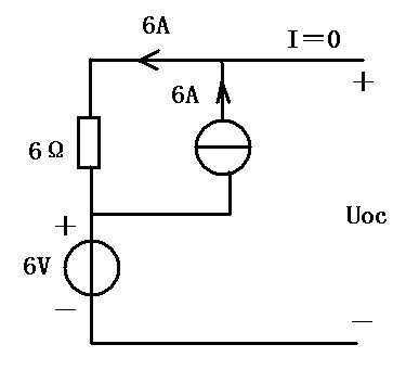 1,先把与6v电压源并联的2a电流源去掉(不影响电路等效).