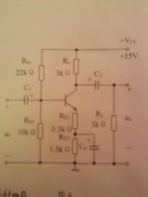 固定偏置放大电路如图(a)所示,已知ucc=12v,rc=3k84