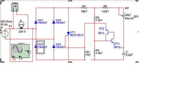 请问这个晶闸管调光电路电阻r1 r2 r4总共38.7k经得住