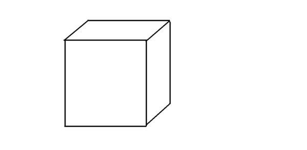 从一个正方体上锯下一个角(一个四面体)使得剩下部分图片