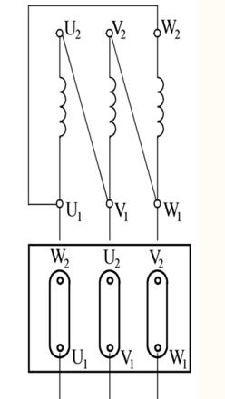 比如三相电动机的相绕组是1.3欧姆,在三角形接法中一2