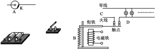 如图所示电路为其模拟电路,其中a为光电管,b为