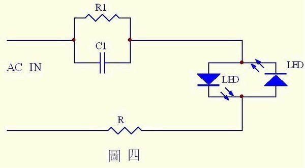 是一个最简单的电容降压应用电路,可以广泛应用于夜光灯,按钮指示灯