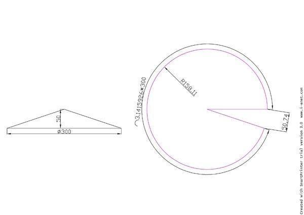 圆锥体计算展开图形加尺寸-.