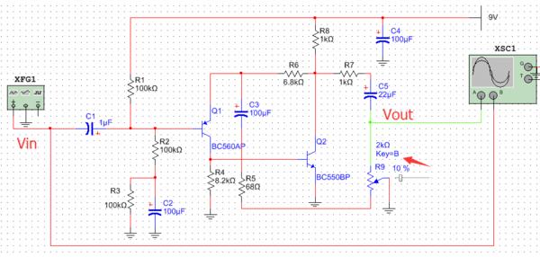 三级管的共射极放大电路