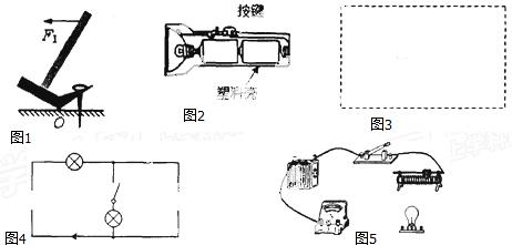 (4)如图5所示,电源电压为6v,用笔画线代替导线,将图中元件连接成电路