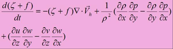 正涡度平流_请写出涡度方程各项的含义,并说明其中各项的物理意义 - 雨露 ...